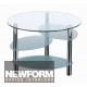 GL10666 Glass & Chrome Table